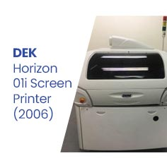 TK852 - DEK Horizon 01i Screen Printer (2006)