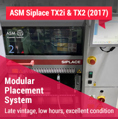 TK919 - ASM Siplace TX2i High-Speed Placement Modules (8 modules available) (2017)